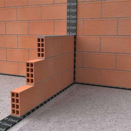 Banda dessolidarizante - Banda acústica para paredes de alvenaria que se utiliza para interromper a transmissão de vibrações nos encontros com pisos, tetos e outras divisórias maximizando o isolamento acústico da divisória.