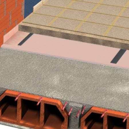 ChovAIMPACT 10 - Tela de polietileno de alta qualidade de células fechadas e estanques destinada a isolar soluções de pavimento a sons de impacto.
