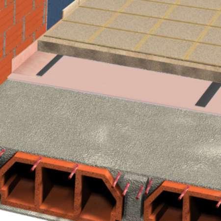 ChovAIMPACT 5 - Tela de polietileno de alta qualidade de células fechadas e estanques destinada a isolar soluções de pavimento a sons de impacto.