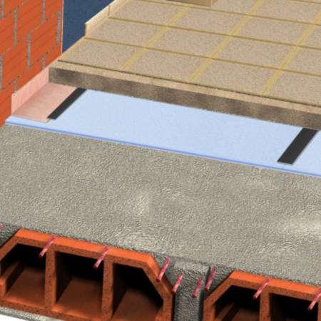 ChovAIMPACT ® 5 | 10 Alta Resistência - Tela acústica de células fechadas e estanques destinada a isolar soluções de pavimento a sons de impacto.