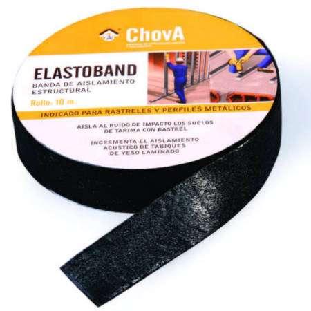 Elastoband 50 | 70 | 90 - Banda acústica bicamada de poliolefina de alta resistência autoadesiva ligada a material viscoelástico de alta densidade.